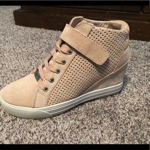Guess hi top wedge sneakers